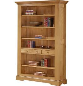 3687 - Bibliothèque ouverte chêne 3 tiroirs