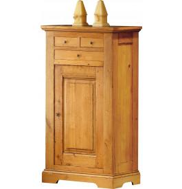 3704 - Bonnetière chêne H140 1 porte 3 tiroirs