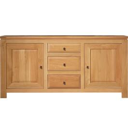 3749 - Buffet chêne clair 2 portes 3 tiroirs