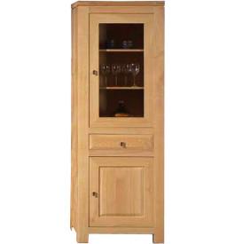 3767 - Bibliothèque chêne clair 2 portes 1 tiroir