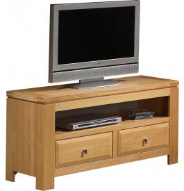 3771 - Meuble TV - Hifi LCD Plasma chêne clair 2 tiroirs 1 niche