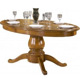 4025 - Table chêne ovale pied central