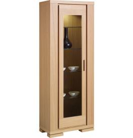 4505 - Meuble de rangement chêne 1 porte vitrée