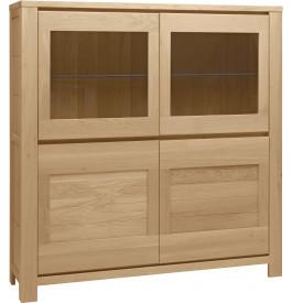 4659 - Buffet vaisselier chêne 2 portes contemporain