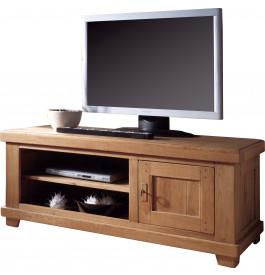 4796 - Banc TV - Hifi LCD Plasma chêne 1 porte 2 niches