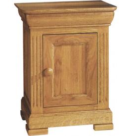4847 - Chevet chêne 1 porte 1 tiroir décor cannelures