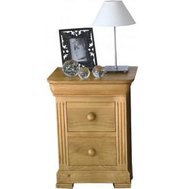 4848 - Chevet chêne 3 tiroirs décor cannelures