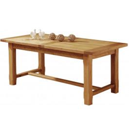 5103 - Table de Ferme rectangulaire chêne ouverture synchronisée L200