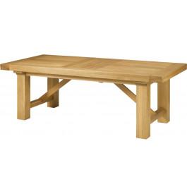 5120 - Table chêne massif rectangulaire pieds carrés