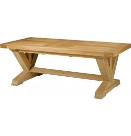5124 - Table chêne massif rectangulaire pieds en V