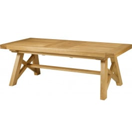 5126 - Table chêne massif rectangulaire pieds en X