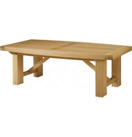 5130 - Table chêne massif tonneau pieds rectangulaires