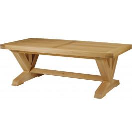 5132 - Table chêne massif tonneau pieds en V