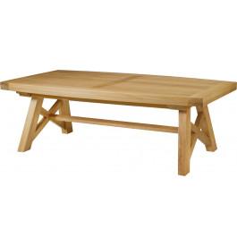 5134 - Table chêne massif tonneau pieds en X