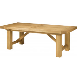 5136 - Table chêne massif rectangulaire ouverture simultanée