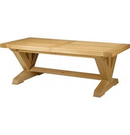 5139 - Table chêne massif rectangulaire ouverture simultanée pieds en V