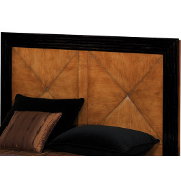 Tête de lit merisier laque noire pour lit 140