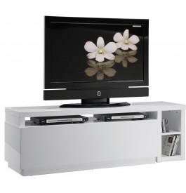 5728 - Meuble TV - Hifi LCD Plasma pivotant laque blanche