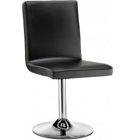5759 - Chaise design métal chromé et PVC noir