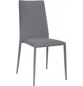 5806 - Chaises moderne tissu gris (x4)