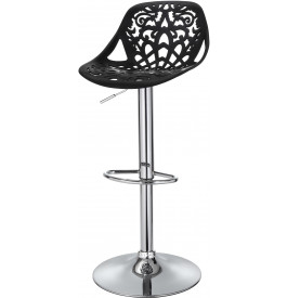 5840 - Chaise de bar design métal chromé noire
