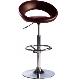 5894 - Tabourets de bar design chocolat (x2)