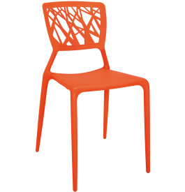 5903 - Chaises design orange indoor-outdoor (x4)