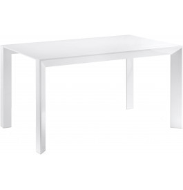 5916 - Table rectangulaire transformable carrée L140 blanche