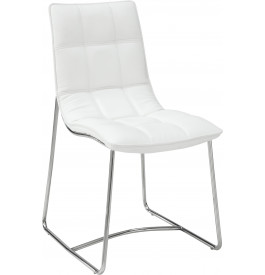5963 - Chaises design blanches (x2)