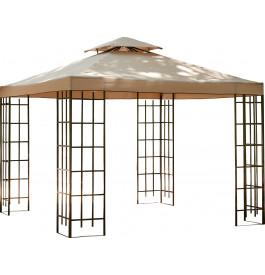 6780 - Pergola carrée toile hydrofuge cappuccino L300