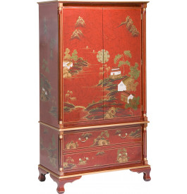 armoire chinoise rouge. Black Bedroom Furniture Sets. Home Design Ideas