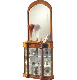 7375 - Vitrine 1 porte 1 tiroir 1 miroir
