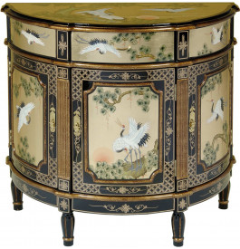 Commode chinoise demi-lune