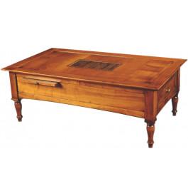 8357 - Table Basse 1 tiroir 2 tirettes
