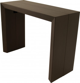 Table console extensible 4 allonges teinte wengé