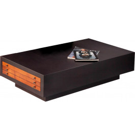 Table basse weng rectangulaire 2 tiroirs - Table rectangulaire wenge ...