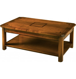 Table basse merisier extensible double plateau - Table basse merisier ...