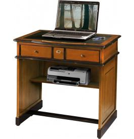 8615 - Table d'écriture informatique merisier 1 abattant 2 tirettes