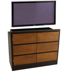 Meuble TV - Hifi LCD Plasma teinte wengé 2 portes merisier