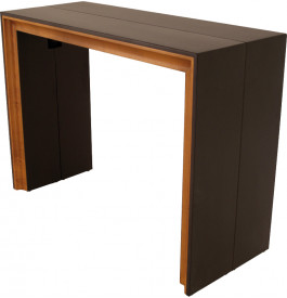 table console extensible 4 allonges teinte weng merisier. Black Bedroom Furniture Sets. Home Design Ideas
