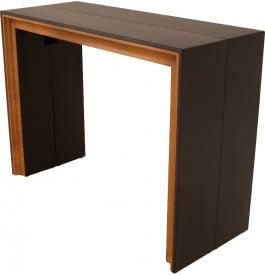 8688 - Table console extensible 4 allonges teinte wengé merisier