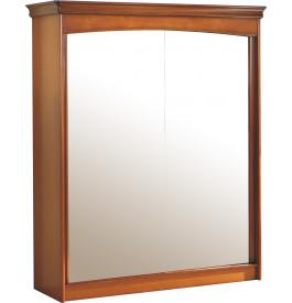 8949 - Armoire merisier 2 portes coulissantes à glaces H220
