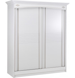 armoire blanche 2 portes coulissantes l180. Black Bedroom Furniture Sets. Home Design Ideas