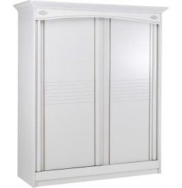 9034 - Armoire blanche 2 portes coulissantes L180