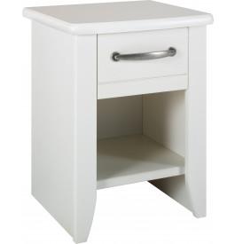 9078 - Chevet blanc 1 tiroir 1 niche