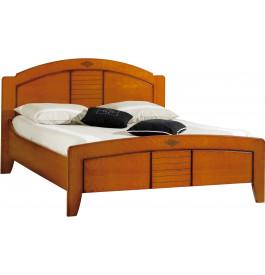 lit merisier 160 x 200 dossier rond. Black Bedroom Furniture Sets. Home Design Ideas