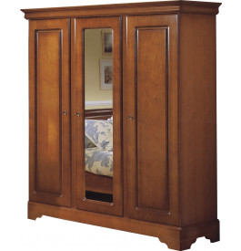 armoire merisier 3 portes glace centrale. Black Bedroom Furniture Sets. Home Design Ideas