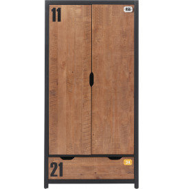 Armoire enfant pin massif 2 portes 1 tiroir ALEX