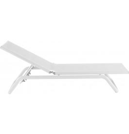bain de soleil droit aluminium et textil ne blanc. Black Bedroom Furniture Sets. Home Design Ideas