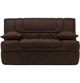 banquette bz microfibre chocolat matelas 140x190 bultex mousse hr. Black Bedroom Furniture Sets. Home Design Ideas